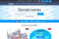 Register a domain at FastHosts